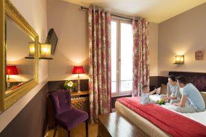 Chambre d'Hôtel pour un Séjour en Famille à Paris